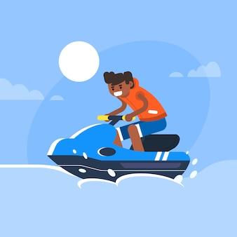 ジェットスキーをプレイ