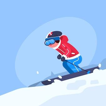 冬のスポーツの図