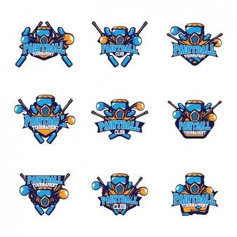 Пейнтбольный дизайн логотипа шаблоны