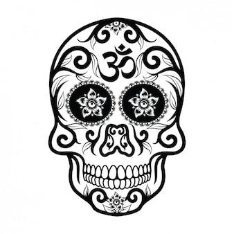 Мексиканский дизайн черепа