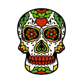 Иллюстрация сахарного черепа