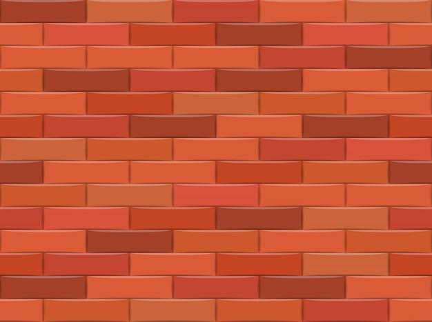 茶色のレンガの壁の背景。シームレスパターンベクトルイラスト