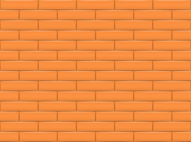 オレンジ色のレンガ壁の背景とのシームレスなパターン