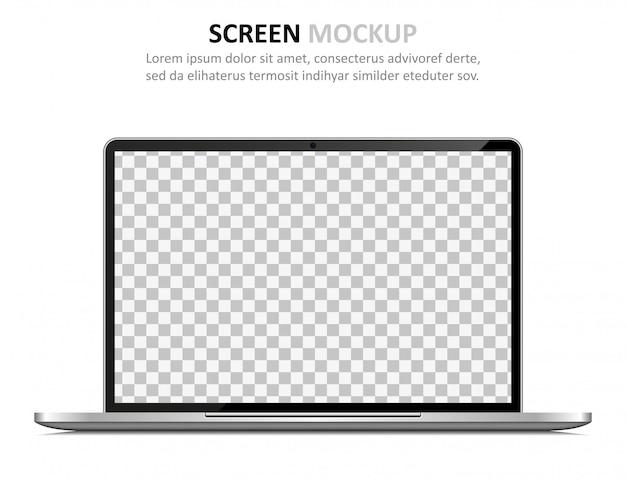 空白の画面を持つノートパソコン