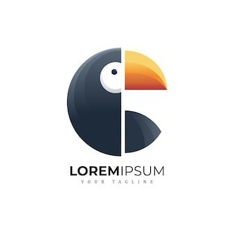 Птица логотип премиум