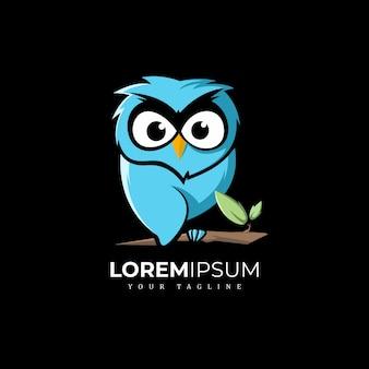 フクロウのロゴデザイン