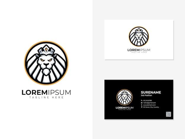 ライオンのロゴと訪問カード