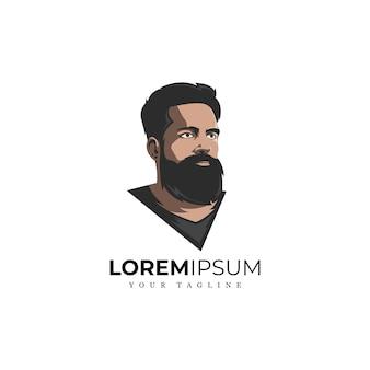 素晴らしいひげの男のロゴ