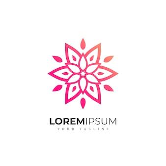 抽象的なグラデーション花ロゴ