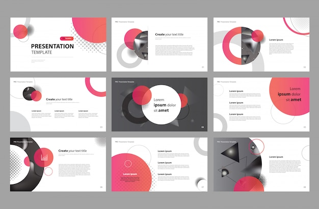 ビジネスプレゼンテーションデザインとパンフレットのレイアウト
