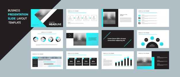 Бизнес шаблон презентации дизайн концепции с элементами инфографики