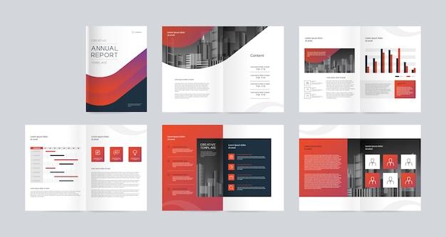 Бизнес-профиль компании и годовой отчет дизайн шаблона брошюры
