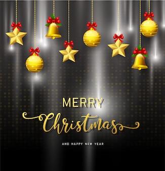 季節の願いと飾られた現実的な探してクリスマスツリーの枝の休日の背景