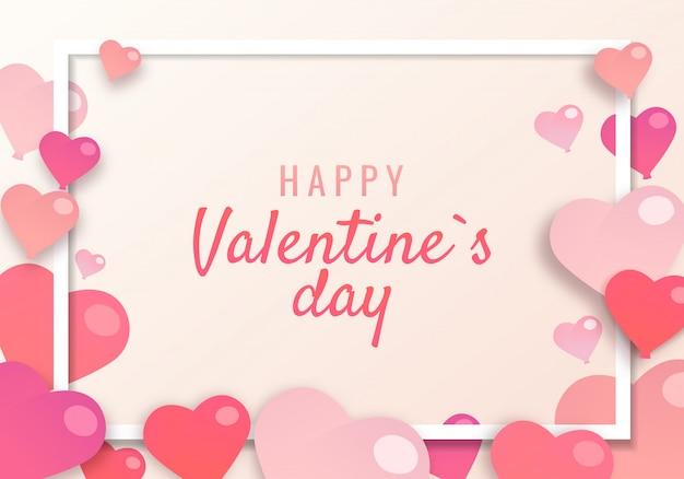 バレンタインの日のテーマのイラスト。