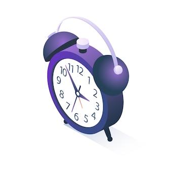 白で隔離される等尺性目覚まし時計