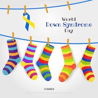 世界ダウン症の日のテーマのベクトル図