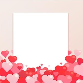 グリーティングカードのバレンタインデーの背景