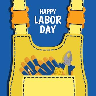 労働者の日をテーマにしたイラスト。