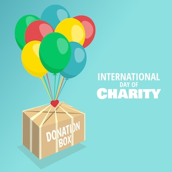 Векторная иллюстрация на тему международного дня благотворительности