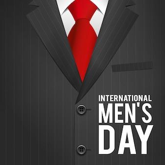国際男性の日のテーマのベクトル図です。