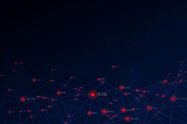 ビッグデータの背景を作成する