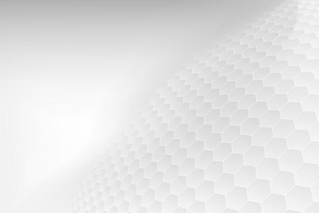 抽象。エンボス六角形、ハニカムホワイトバックグラウンド。