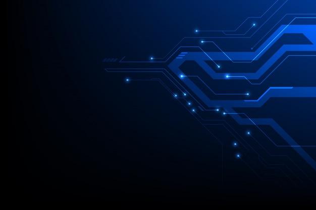 抽象的なデジタルテクノロジーテレコム背景、サイエンスフィクションネットワークコンピューター回路