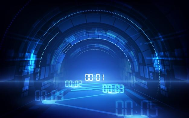 Абстрактный футуристический фон технологии с цифровым номером
