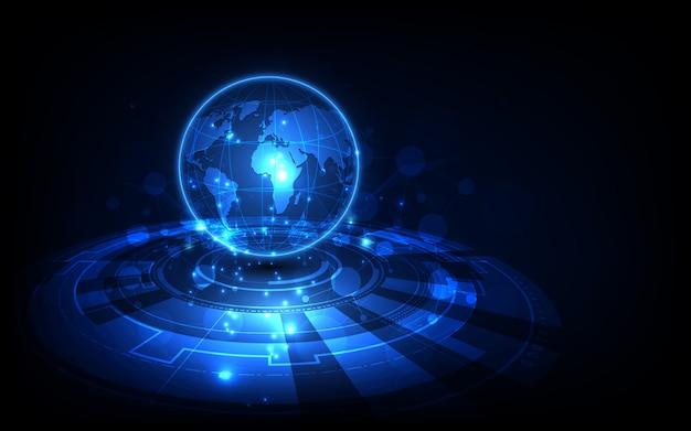 Цифровая глобальная технология фон