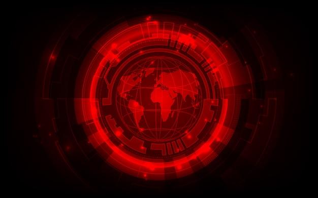 Концепция цифровой глобальной технологии, абстрактный фон