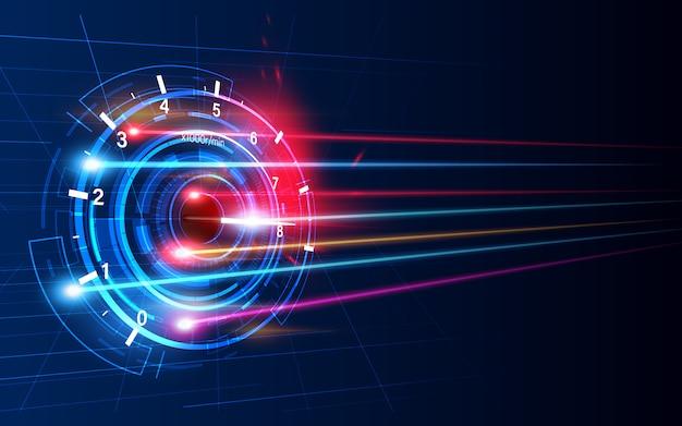 Скачайте индикатор выполнения или круглый индикатор скорости в сети.