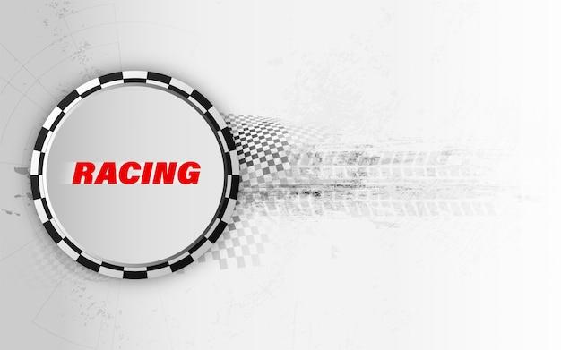正方形の背景をレーシング、レースカートラックの抽象化