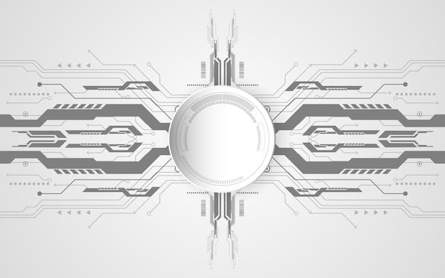 様々な技術要素と抽象的な技術的背景のコンセプト。