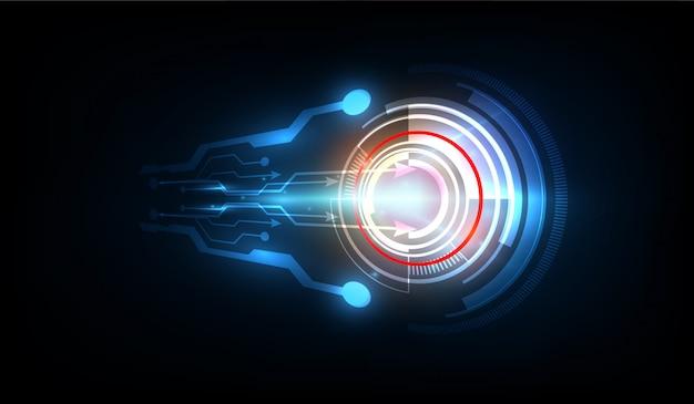 抽象的な未来的な電子回路技術の背景、ベクトルイラスト
