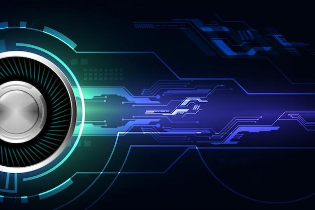 ブルー抽象的なサイバー未来技術コンセプトの背景