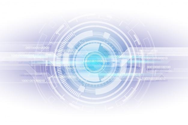 抽象的なデジタルバイナリ行列番号技術の未来的な背景