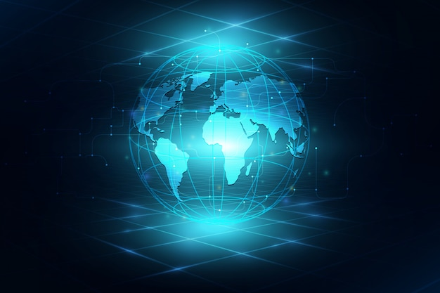 グローバルビジネスの背景の最高のインターネット