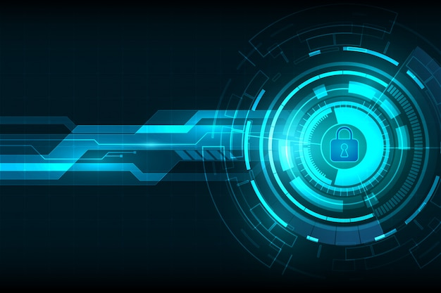 Абстрактный фон цифровой технологии безопасности