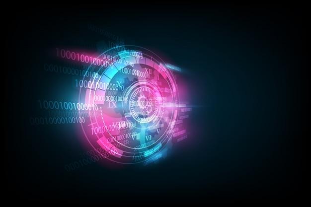 時計とタイムマシンと抽象的な未来的な技術の背景