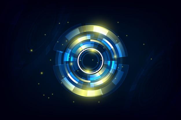 Абстрактный привет технологий футуристический телекоммуникаций фон