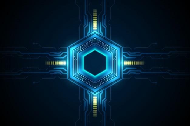 六角形の未来的なサイエンスフィクションパターン