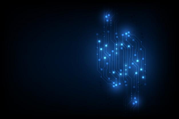 Блок цепочки технологии инновационного дизайна фона