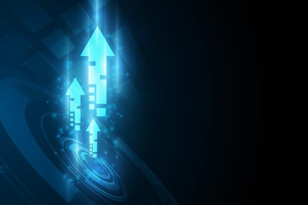 抽象的な未来デジタル速度技術