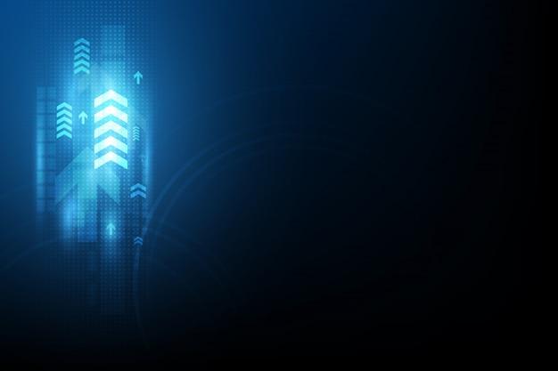 Стрелка скорость связи абстрактный фон