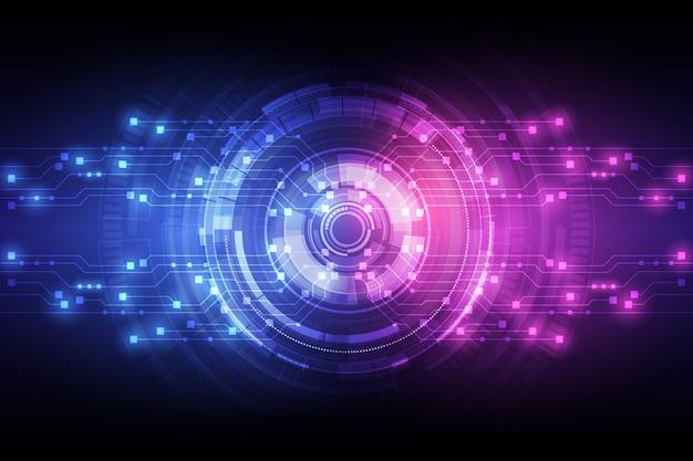 抽象的な回路ネットワークブロックチェーンコンセプトの背景