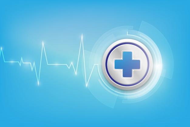 医療アイコンパターン医療革新コンセプトの背景デザイン
