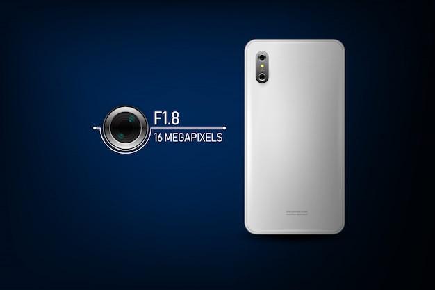 スマートフォンカメラ。ベクトルイラスト