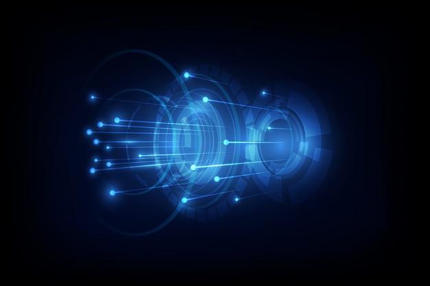 ネットワーク通信概念の背景に接続線