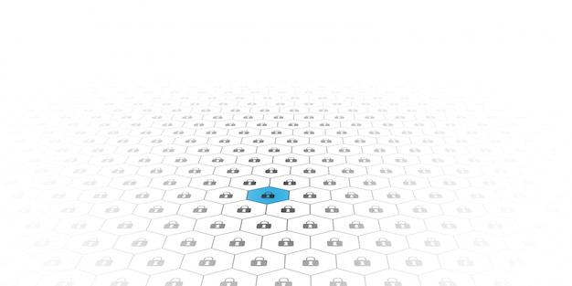 ブロックチェーン回路ネットワーキングの概念。分散元帳テクノロジ