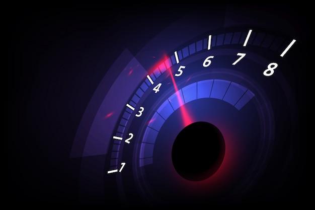高速スピードメーターの車でスピードモーションの背景